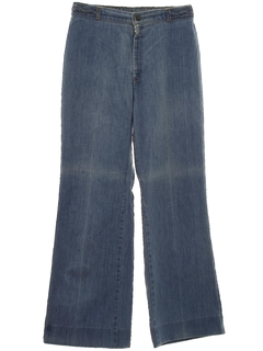 1970's Womens Flared Jeans Denim Pants
