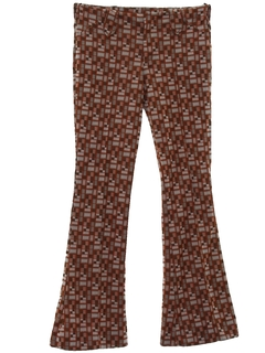 1970's Womens Mod Bellbottom Knit Pants