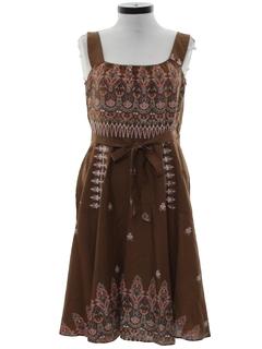 1990's Womens Wrap Style Hippie Dress