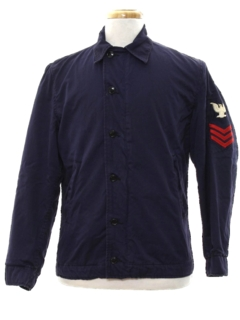 1960's Mens Mod Military Shirt Jacket
