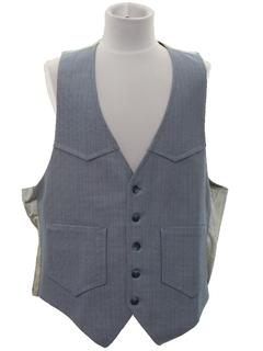 1970's Mens Western Suit Vest