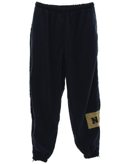 1970's Mens Navy Tactical Track Pants