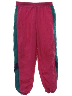 1980's Womens or Girls Totally 80s Baggy Track Pants