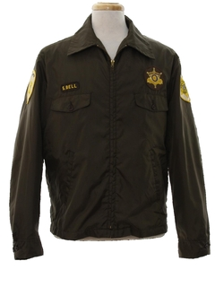 1970's Mens Sheriffs Work Zip Jacket