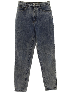 1980's Mens Totally 80s Acid Washed Jeans Denim Pants