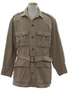 1960's Mens Mod Safari Style Field Jacket