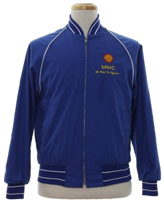 1980's Mens Baseball Style Gas Station Zip Jacket