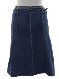 1980's Womens Denim Wrap Skirt