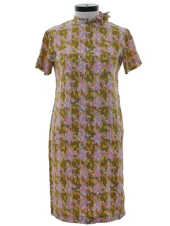1960's Womens Mod shift Day Dress
