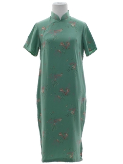 1950's Womens Cheongsam Cocktail Dress