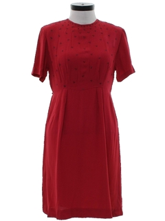 1960's Womens Rayon Dress