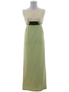 1960's Womens/Girls Prom or Cocktail Maxi Dress