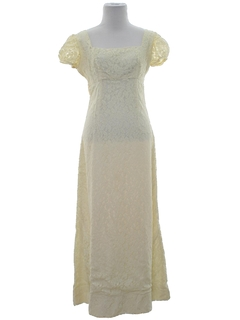 1950's Womens Prom Or Cocktail Maxi Dress