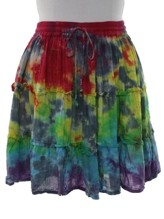 1980's Womens Mini Hippie Skirt