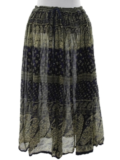 1990's Womens Broomstick Hippie Skirt