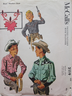 1960's Mens/Childs Western Pattern