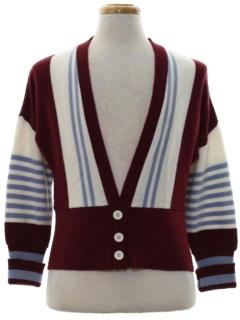 1960's Unisex Mod Cardigan Sweater