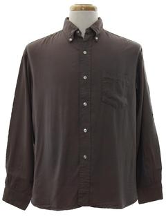 1950's Mens Mod Gabardine Sportshirt Shirt