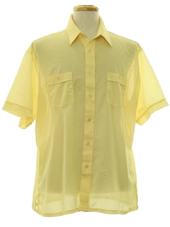 1970's Mens Sheer Sport Shirt