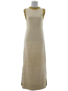 1960's Womens Mod Grecian Style Hippie Maxi Dress