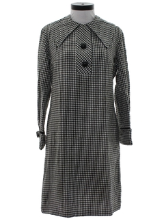 1960's Womens Mod Wool Twiggy Dress