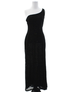 1990's Womens Wicked 90s Asymmetrical Prom Or Cocktail Maxi Dress