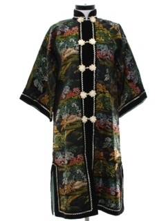 1960's Womens Cheongsam Asian Style Mod Robe