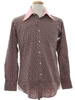 1970's Mens Mod Designer Shirt