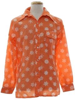1970's Mens Mod Ski Shirt