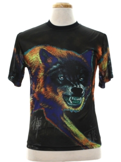 1990's Mens/Boys Animal Print T-Shirt