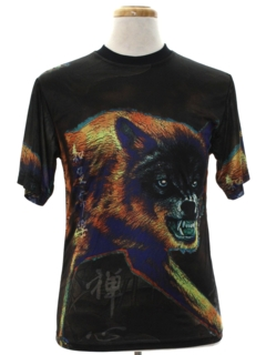 1990's Mens or Boys Animal Print T-Shirt