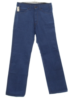 1980's Mens Straight Leg Denim Jeans Pants