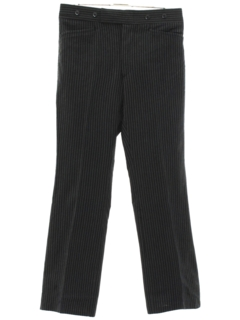 1970's Mens Pinstriped Tuxedo Pants