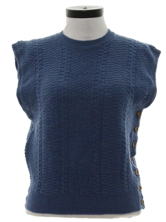 1980's Womens Wool Sweater Vest