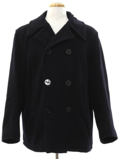 1970's Mens Pea Coat Jacket
