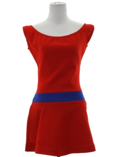 1970's Womens Mod Tennis Mini Dress