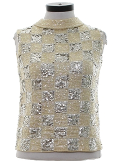 1960's Womens Sequined Cocktail Shirt