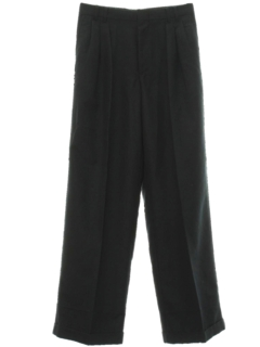 1980's Mens Totally 80s Pleated Gabardine Slacks Pants