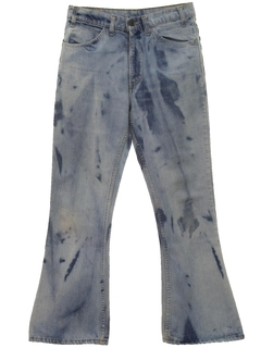 1960's Mens Acid Washed Flared Jeans Pants