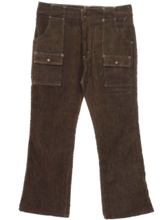 1960's Mens Corduroy Flared Jeans Cut Pants