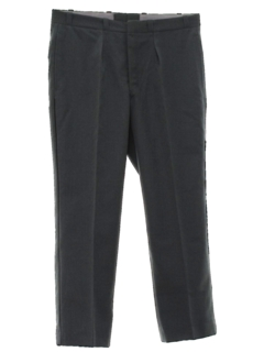 1960's Mens Pleated Uniform Pants