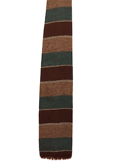 1960's Mens Accessories - Flat Bottom Wool Necktie