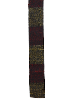 1950's Mens Accessories - Flat Bottom Skinny Rockabilly Necktie