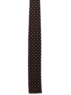 1950's Mens Skinny Flat Bottom Rockabilly Necktie