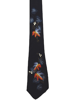 1940's Mens Hand Painted Necktie