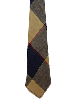 1970's Mens Wide Wool Necktie