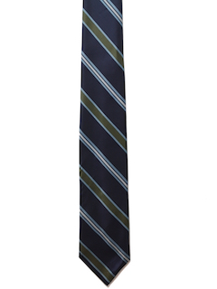 1970's Mens Diagonal Stripe Necktie