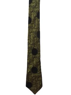 1950's Mens Rockabilly Skinny Necktie