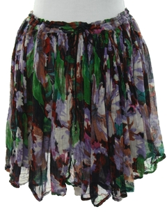 1990's Womens Mini Broomstick Hippie Skirt