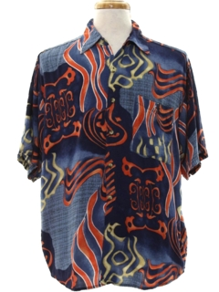 1990's Mens Wicked 90s Graphic Print Club/Rave Style Sport Shirt